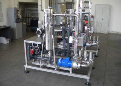 Impianto per microfiltrazione
