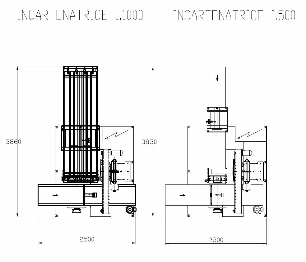Incartonatrice I1000 - I1500